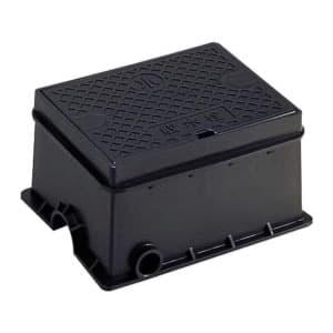 散水栓ボックス(床面用) ガーデニング 外寸:220×279×140mm 黒
