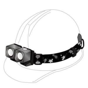 充電式LEDツインヘッドライト 最大240lm IPX4