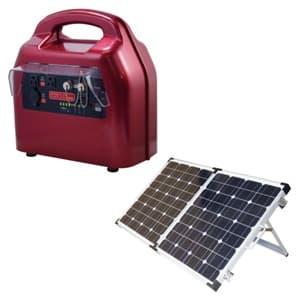 ポータブルハイブリット蓄電器 ソーラーセット 2way充電、出力