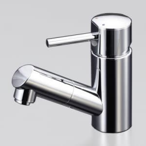 洗面用シングルレバー式混合栓 銅管仕様 ホース引出し式 泡沫吐水 《LFM670シリーズ》