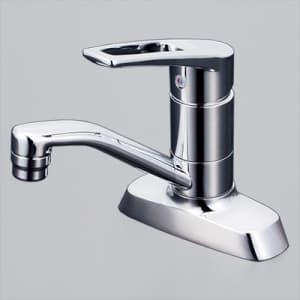 洗面用シングルレバー式混合栓 吐水口回転式 逆止弁付 泡沫吐水