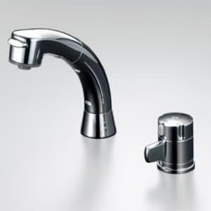 サーモスタット式洗髪シャワー シャワー引出し式 寒冷地用 ストレーナ付逆止弁ユニット付 泡沫吐水 《KF125シリーズ》