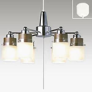 LEDシャンデリア 〜8畳用 LED電球(LDA)×6灯 電球色 高さ調節可能(コード収納型)