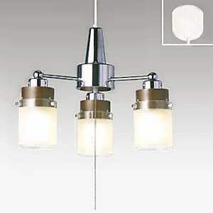 LEDシャンデリア LED電球(LDA)×3灯 電球色 高さ調節可能(コード収納型)