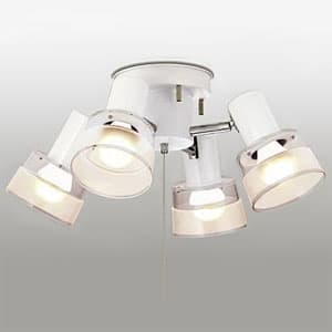 LEDシャンデリア 〜4.5畳用 LED電球(LDA)×4灯 電球色 灯具可動型