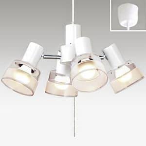 LEDシャンデリア 〜4.5畳用 LED電球(LDA)×4灯 電球色 灯具可動型 高さ調節可能(コード収納型)