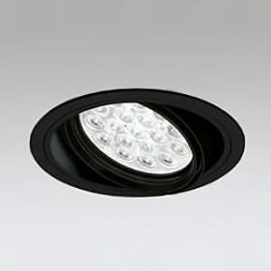 LEDユニバーサルダウンライト M形 埋込穴φ150 HID70Wクラス LED18灯 配光角47° 非調光 本体色:ブラック 電球色タイプ 3000K