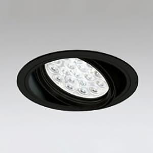 LEDユニバーサルダウンライト M形 埋込穴φ150 HID70Wクラス LED18灯 配光角14° 連続調光 本体色:ブラック 白色タイプ 4000K