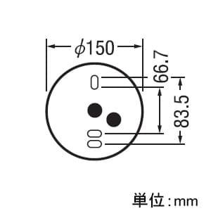 LEDシーリングダウンライト 白熱灯100Wクラス 配光角112° 連続調光 本体色:オフホワイト 電球色タイプ 2700K 画像2
