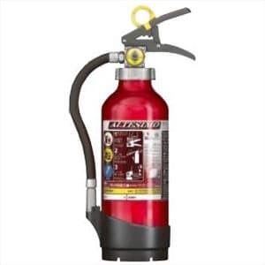 アルミ製蓄圧式粉末ABC消火器 《アルテシモ》 業務用 総質量約2.0kg リサイクルシール付