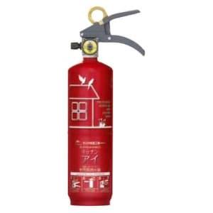 住宅用強化液(中性)消火器 《キッチンアイ》 蓄圧式 総質量約2.2kg リサイクルシール付 ルビーレッド