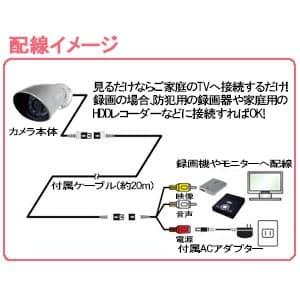 防犯用ミニDIYカメラ 防滴構造 IP44相当 切替式デイナイトフィルター搭載 天井・壁面取付 画像4