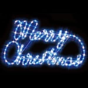 LEDジョイントモチーフ メリークリスマス(白/青)