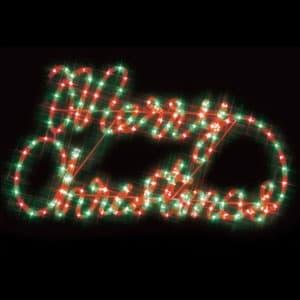 LEDジョイントモチーフ メリークリスマス(赤/緑)