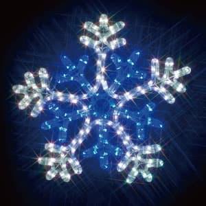 LEDジョイントモチーフ 雪の結晶(白/青)