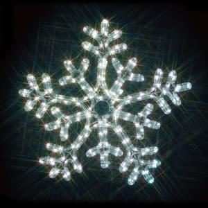 LEDジョイントモチーフ 雪の結晶(白/白)