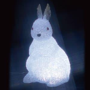 LEDクリスタルモチーフ ウサギ(中) AC100V