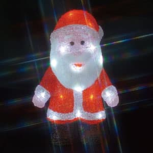 LEDクリスタルモチーフ サンタクロース(中) 乾電池式