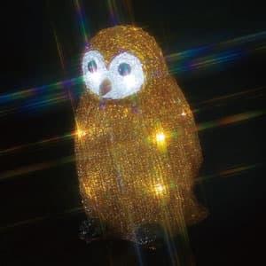 LEDクリスタルモチーフ フクロウ(小) 乾電池式