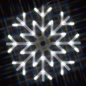 LEDクリスタルモチーフ 雪の結晶(中) 白色 AC100V