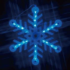 LEDクリスタルモチーフ 雪の結晶(小) 青色 AC100V