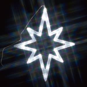 LEDクリスタルモチーフ 星(中) 白色 AC100V