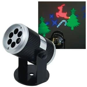 LEDプロジェクター(クリスマス) 投影型 全光束27〜183lm AC100V 幅81×奥行130×高さ111mm