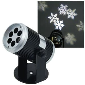LEDプロジェクター(雪の結晶) 投影型 全光束27〜183lm AC100V 幅81×奥行130×高さ111mm