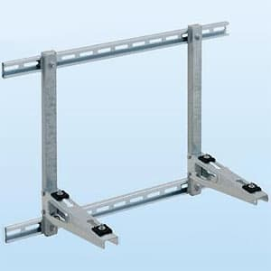 PCキャッチャー 壁面用 幅・奥行き広めタイプ 水平調整機構付 溶融亜鉛メッキ仕上げ 《goシリーズ》