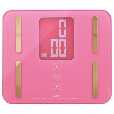 見やすいコンパクト体組成計 ピンク