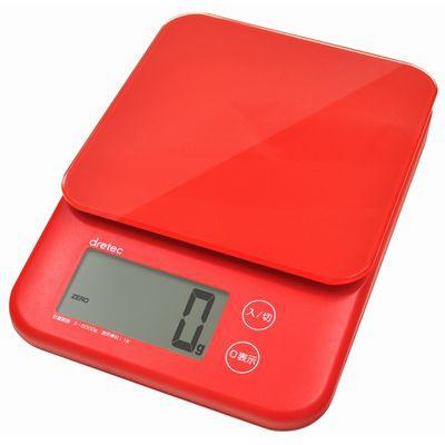 デジタルスケール「バルケット」5kg レッド
