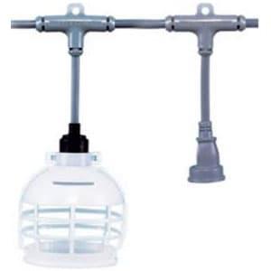 分岐ケーブル 照明・電源兼用 EST2タイプ 母線VCT2.0㎟×3C 防水ソケット8個 防水コネクター2個 長さ25m