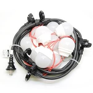 LED電球一体型提灯コード 防水仕様 屋外用 10灯 全長5m 防水プラグ・防水コネクタ付
