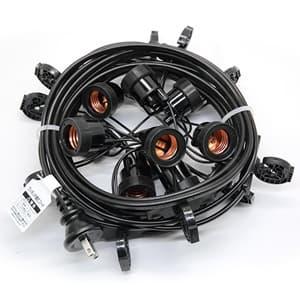 ワンタッチ提灯コード ライトタイプ 屋内用 10灯 全長7.5m E26ソケット 防水プラグ付