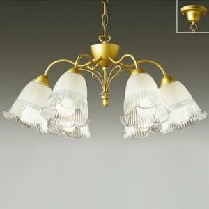 LEDシャンデリア ランプ付 ハンドメイド品 〜8畳 白熱灯60W×6灯相当 非調光タイプ 39.6W 電球色タイプ