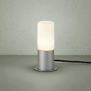 LEDアプローチ灯 ランプ付 防雨形 白熱灯60W相当 非調光タイプ 6.6W 口金E26 高さ285mm キャプタイヤコード5m付 差込プラグ付 電球色タイプ シルバー