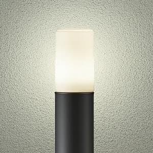 LEDアプローチ灯 ランプ付 防雨形 白熱灯60W相当 非調光タイプ 6.6W 口金E26 高さ685mm 電球色タイプ 黒
