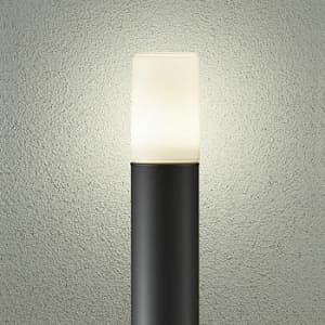 LEDアプローチ灯 ランプ付 防雨形 白熱灯60W相当 非調光タイプ 6.6W 口金E26 高985mm 電球色タイプ 黒
