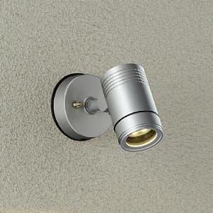 LEDブラケットライト 超広角60° 防雨形 白熱灯80W相当 非調光タイプ 9.5W 天井付・壁付・床付兼用 首振壁向10°外向90°回転360° 電球色タイプ シルバーサテン