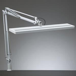 LEDスタンドライト クランプ式 白熱灯150W相当 調光機能付 ホワイト 《Zライト》