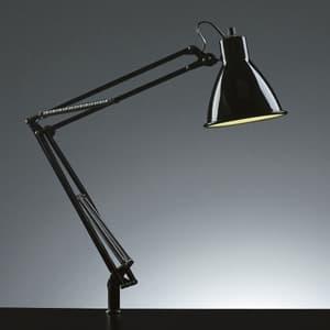 LEDスタンドライト クランプ式 セード形状 白熱灯60W相当 ブラック 《Zライト》