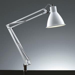 LEDスタンドライト クランプ式 セード形状 白熱灯60W相当 ホワイト 《Zライト》
