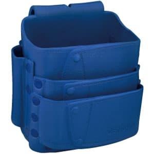 ソフトプラポーチ ポケット3段式 ブルー