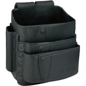 ソフトプラポーチ ポケット3段式 ブラック