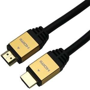 ハイスピードHDMIケーブル イーサネットチャンネル(HEC)対応 長さ1.0m ゴールド