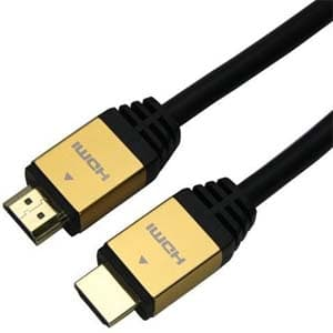 ハイスピードHDMIケーブル イーサネットチャンネル(HEC)対応 長さ2.0m ゴールド