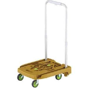 小型樹脂製運搬車 《アイドルキャリー weego》 伸縮式折りたたみハンドルタイプ オリーブ