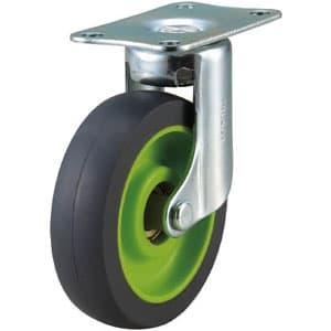 取り替えキャスター weego専用 自在式 省音タイプ 車輪径75mm ライトグリーン