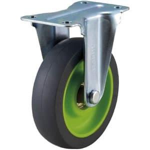 取り替えキャスター weego専用 固定式 省音タイプ 車輪径75mm ライトグリーン