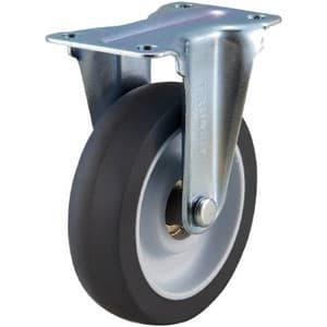 取り替えキャスター weego専用 固定式 省音タイプ 車輪径75mm オフホワイト